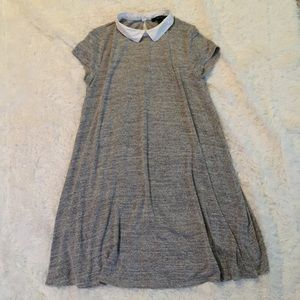 Grey Collared Shirt-Dress by Forever 21